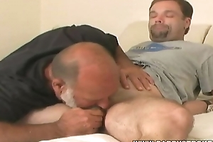 Tease And Lars - Bearish Daddy Sucking Admirers Cock