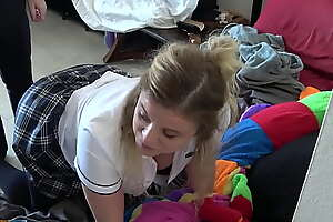 Teen stepdaughter gets an aggravation fucking from stepdad