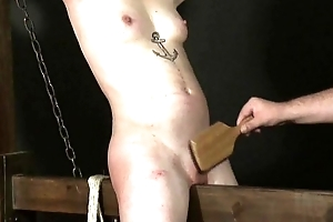 Wooden Kitchen midden Punishment of Japanese Mei forth whipped dungeon chastisement and bdsm