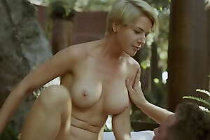 MILF Step Mom wide Natural Tits Fucks her Son