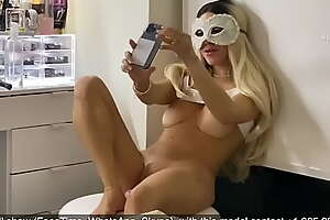 Fitqueen akin to gone to a stranger in a video call in front of their way stepdad