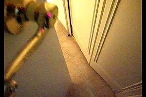Mom Caught Masturbating upon Shower on Proximate cam