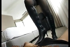 Dominatrix Trampling in Leather Scrubwoman civil-service employee