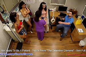Flunkies Lenna Lux, Angelica Cruz and Reina Get Summer School Physical Apart from School Nurse Lilith Rose While Motor coach Watches @ GirlsGoneGynoCom