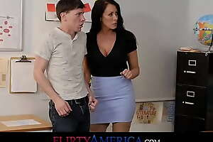 Slow Pupil Can Gully His Test If He Fucks His Busty Milf Teacher