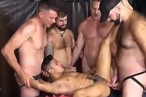 PERFECT MAN Gets pissed on in Gangbang