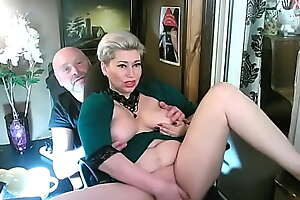 My brassy wife spreads her legs not susceptible our balcony in a private pretence coupled with rubs her pussy furiously!
