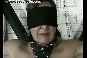 Mature girl masked and getting punished