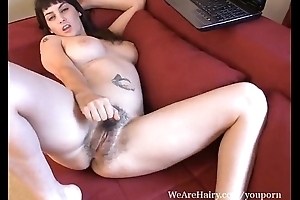 AngelinaDee gets off nearly hairy pussy porn