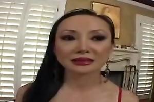 Unsightly Asian mature woman
