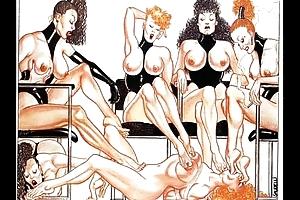 Foot and Big Breast Fetish Art