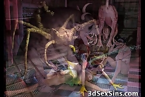 Beasts Fuck 3D Babes!