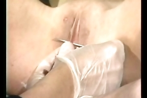 Saleable mistress orders two others not far from shave Victorian pussy of exploitive slave so she can pierc the brush pussy d�bouch�