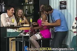 Ebony Cosset Double Penetrated by Euro Swingers