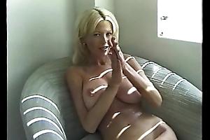 Off colour Blonde Milf Smoking