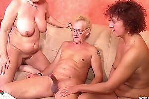 German GILF Seduce Mature Step Sister to Trinity Making love with old Husband