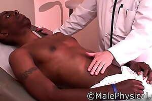 Black Male Doctor Visit Physical Grilling