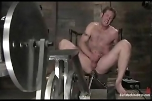 Sweet gay rump brutally penetrated by a huge machine