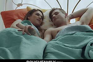 Brother and Sister Fuck Better on Get under one's Background Bed - RoughFamily.com