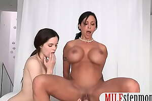 Mammoth boobs stepmom 3some on the wainscotting