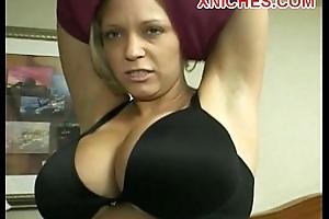 Mature drab big tits sucks twosome cocks