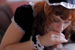 Redhead Camille Quickening Gives a French Sheila Blowjob