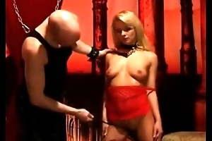 Bonny Blonde Submissive Hottie Whipped Hard by Her Master F51