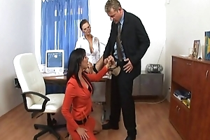 Transcriber office threesome
