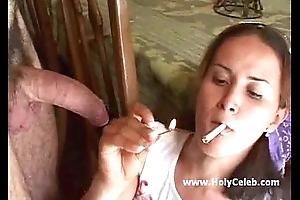 Smoking pussy fucked