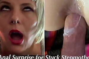 ANAL Dazzle For Stuck Step Mommy : Cum in Ass