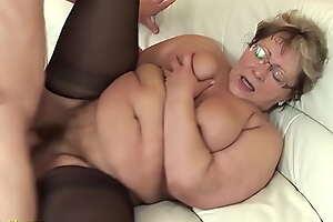 nasty fat grandma fucked by stepson