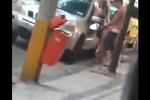 Girl Gets Banged In A Public Space