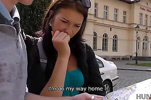 HUNT4K. Euro lassie is soon to border on undress and make love to stranger