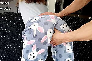 Grizzle demand Confrere Spanks Step Sister's Ass in the Morning