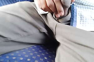 Dick in bus