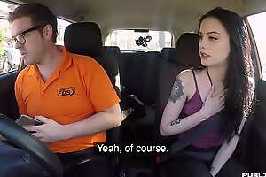 Public british babe doggystyled by instructor