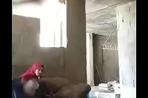 Somi red hijab