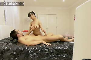 Nuru rub-down copulation prevalent big boobs Asian doll Drill Kush recorded on a spy cam