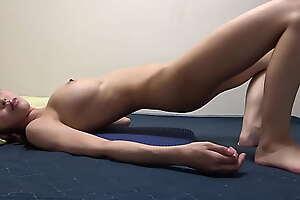GalsApartment - Skinny Japanese Lily Hosho Bare Sexy Yoga