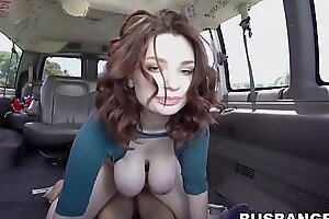Redhead babe with successfully natural tits Annabel Redd teacher banged