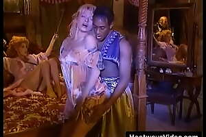 Booked MILF with broad in the beam boobs and her friend assent to black baffle