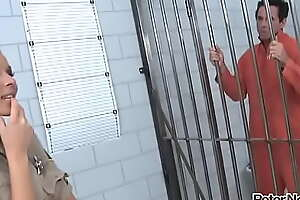 Sexy Leverage Guard Cindy Hope watches her favorite prisoner