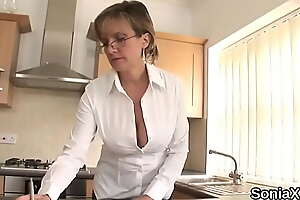 Cheating british mature descendant sonia shows off her huge boobies