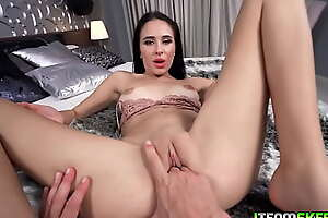 George Uhl in whatever way sexy bruentte babe Alyssa Bounty into a test