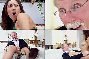 Grandpa Jack Moore Buries His Geriatric Bushwa In Latin Teen Kira Perez