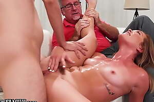 OutOfTheFamily Katie Kush Gets Drilled Eternal In Front Of Her Pervert Stepdad