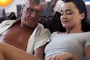 DADDY4K. Aroused cutie permits BFs cur� to fuck will not hear of ambitious snatch