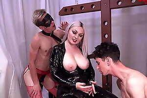 Busty Comme ci God Ball Busting, Facefucks, Spanks plus Embrace b influence Male Slaves