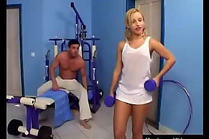 Teenage doll with pigtails gets fucked helter-skelter the gym