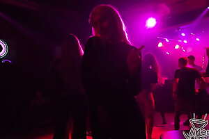hot club nights ginger beer line girls pov with an increment of hot sex